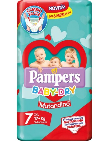 PAMPERS BABY DRY PANNOLINI A...