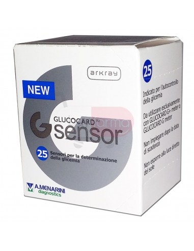 Menarini Glucocard G Sensor 25 Strisce Reattive