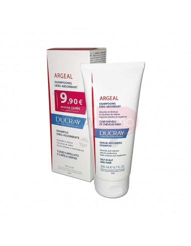 Ducray Argeal Shampoo Trattante Sebo Assorbente per Capelli Grassi da 200ml