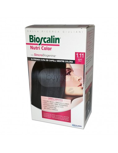 Bioscalin Nutri Color 1.11 Nero Blu Colorazione con Sincrobiogenina