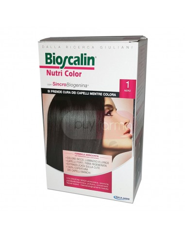Bioscalin Nutri Color 1 Nero Colorazione con Sincrobiogenina