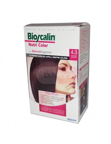 Bioscalin Nutri Color 4.3 Castano Dorato Colorazione con Sincrobiogenina