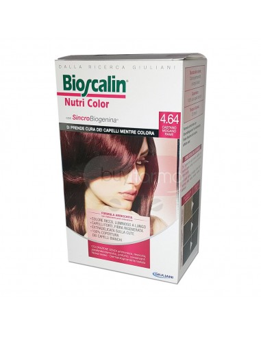 Bioscalin Nutri Color 4.64 Castano Mogano Rame Colorazione con Sincrobiogenina