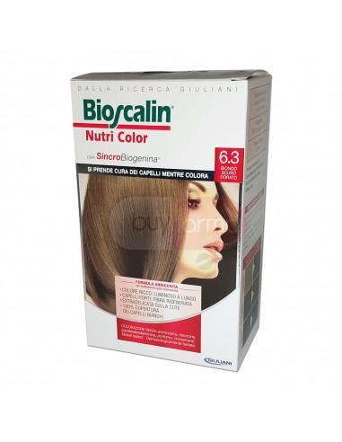Bioscalin Nutri Color 6.3 Biondo Scuro Dorato Colorazione con Sincrobiogenina