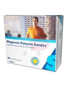 Magnesio Potassio Sandoz 20 buste Integratore Alimentare di Sali Minerali