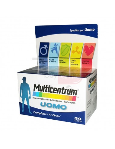 Multicentrum Uomo 30 Compresse Integratore Multivitaminico Multiminerale