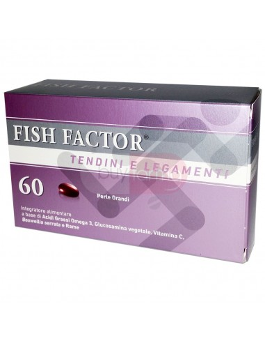 Fish Factor Tendini e Legamenti  Integratore di Acidi Grassi Omega 3 60 Perle