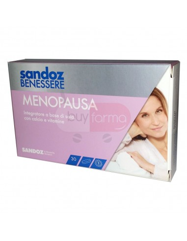 Sandoz Benessere Menopausa - 30 Compresse Integratore per Disturbi Menopausa
