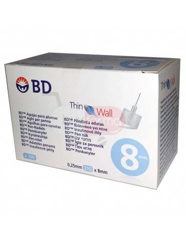 BD Thinwall 8mm 31G 100 Aghi Sterili