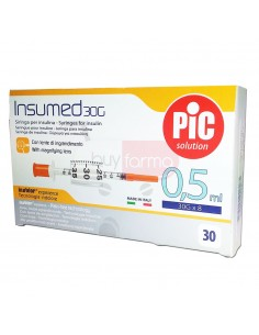 Pic Insumed 0,5ml 30G  30 Siringhe